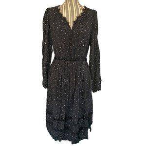 Foxiedox Anthro Black & White Midi Dress SZ 4